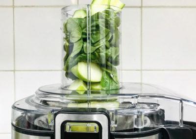 Preparing freshly pressed  juices.